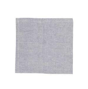 Serviette de table, coton bio, bleu/blanc chiné, 40 x 40 cm