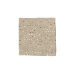 Serviette de table, coton bio, sable, lune & étoiles