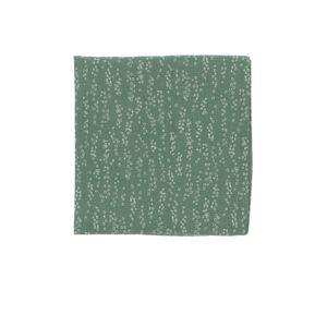 Serviette de table, coton bio, vert à motif de bulles, 40 x 40 cm