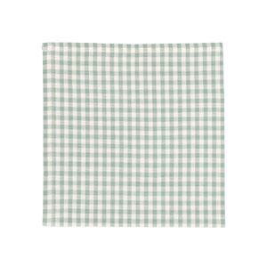 Serviette de table, coton bio, vert/blanc carreaux, 40 x 40 cm