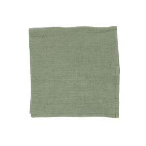 Serviette de table, lin, vert