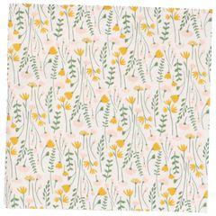 Serviettes de table en papier, blanc à motif de fleurs des champs, 33 x 33 cm