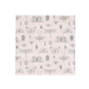 Serviettes de table, papier, insectes, 33 x 33 cm