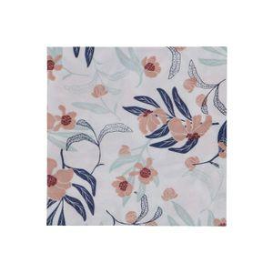 Serviettes de table, papier, rose/bleu, fleurs, 25 x 25 cm