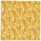 Serviettres de table en papier, jaune à motif de fleurs des champs, 33 x 33 cm