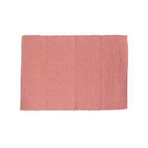 Set de table, coton bio, côtelé, rose foncé