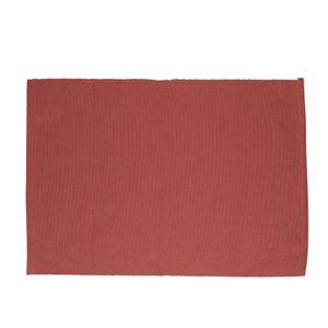 Set de table, coton bio, rouge