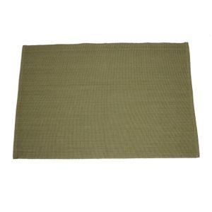 Set de table, coton bio, vert olive, 35 x 50 cm