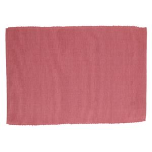 Set de table, coton, rose foncé, 35 x 50 cm