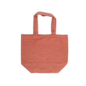 Shopper, Bio-Baumwolle, terracottafarben, 44 x 35 cm