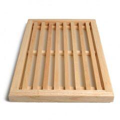 Snij-/ broodplank, rubberhout, 40 x 25 cm