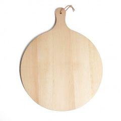 Snij-/pizzaplank, beukenhout, Ø 40 cm