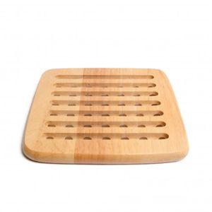 sous-plat en bois d'hévéa