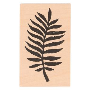 Stempel, Birkenholz, Farn, 7 x 4,3 cm