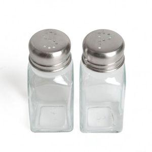 Strooiersetje, peper en zout, glas
