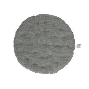 Stuhlkissen rund, Bio-Baumwolle, anthrazit