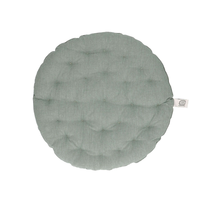 Stuhlkissen rund, Bio-Baumwolle, grün