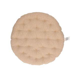 Stuhlkissen rund, Bio-Baumwolle, sandfarben
