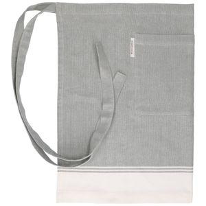 Tablier, coton bio, vert/blanc chiné, 50 x 70 cm