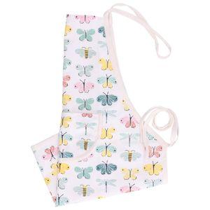 Tablier de cuisine enfant, coton, papillons