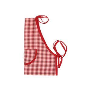 Tablier de cuisine pour enfant, coton bio, carreaux rouges, 3+
