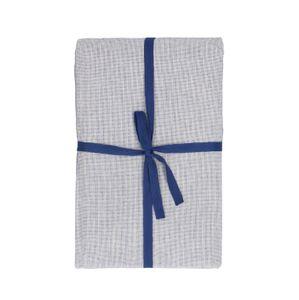 Tafelkleed, bio-katoen, blauw/wit gemêleerd, 140 x 180 cm
