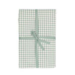 Tafelkleed, bio-katoen, groen/wit geruit, 140 x 180 cm