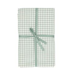Tafelkleed, bio-katoen, groen/wit geruit, 145 x 250 cm