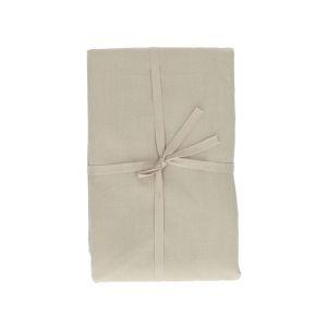 Tafelkleed, bio-katoen, kiezel, 140 x 180 cm