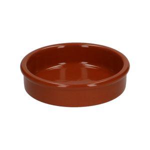 Tapas-Schale, rotes Steingut, Ø 10 cm