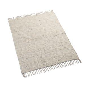 Tapis, coton, blanc cassé, 100 x 130 cm