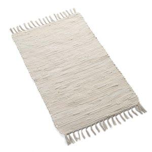 Tapis, coton, blanc cassé, 60 x 90 cm