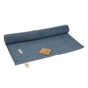 Tapis de bain, coton bio, bleu-gris, 50 x 85 cm
