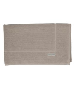Tapis de bain, coton bio, taupe clair