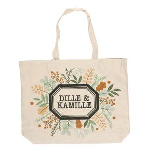 Tas, Dille & Kamille, bio-katoen, takjes en blaadjes, groot