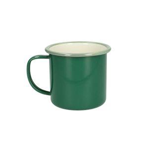 Tasse en émail, vert, Ø 9 cm