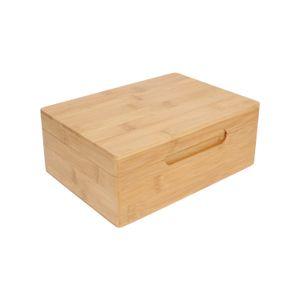 Teebox, 6 Fächer, Bambus