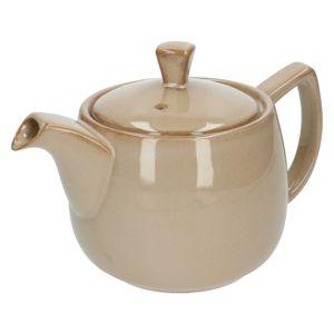Teekanne, reactive Glasur, Steingut, sandfarben, 750 ml