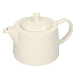 Teekanne 'Weiß', Steingut, 1,3 liter