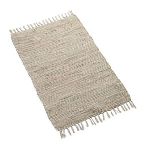 Teppichläufer, Baumwolle, hellgrau, 60 x 90 cm