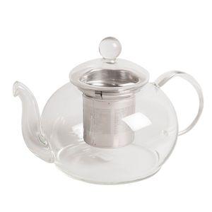Théière avec filtre à thé en inox, verre, 800 ml