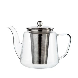 Théière avec filtre à thé, verre, 1,1 l