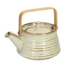 Théière, céramique, beige