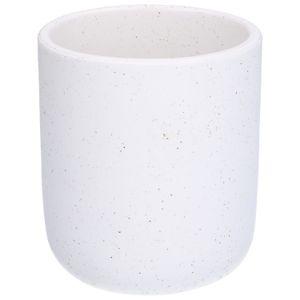 Toiletborstelhouder, keramiek, wit gespikkeld, Ø 11,5 cm