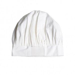Toque de cuisinier pour enfant en coton blanc