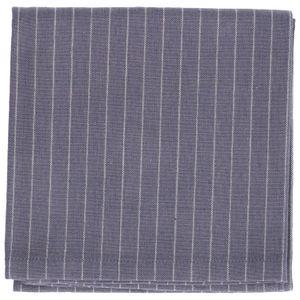 Torchon, coton bio, anthracite rayures, 50 x 70 cm