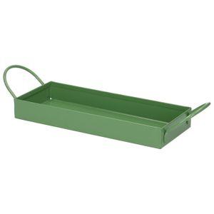 Tray, zink, groen, 20,3 x 8 cm