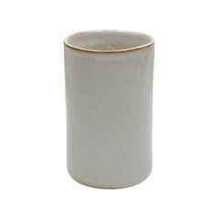 Vaas recht, steengoed met reactief glazuur, wit