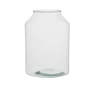 Vaas, recycled glas, hoog