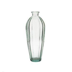 Vaas van glas, ribbel, 28 cm